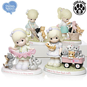 "Precious Moments ""Purr-ecious Moments Together"" Figurines"