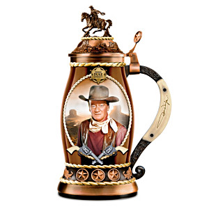 John Wayne, Western Icon Porcelain Tribute Stein Collection
