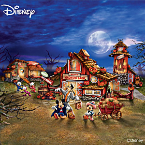 "Illuminated ""Disney Halloween Harvest Village"" Collection"