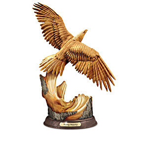 Soaring Splendor Eagle Collection With Hand-Carved Wood Look