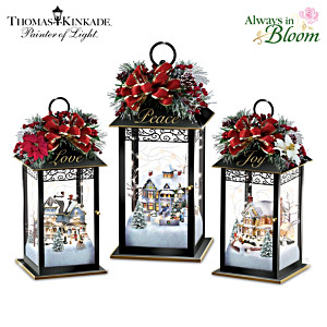 Thomas Kinkade Illuminated Holiday Centrepiece Collection