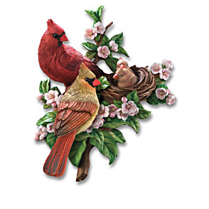 """Spring Awakenings"" Songbird Wall Decor Sculpture Collection"