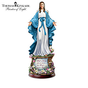 Thomas Kinkade Blessed Mary Illuminated Sculpture Collection