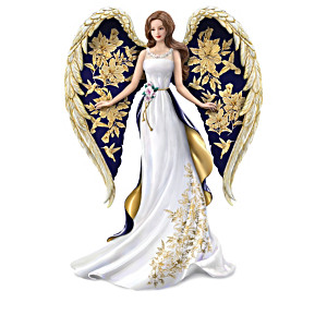 "Lena Liu ""On Wings Of Gold"" Angel Figurine Collection"