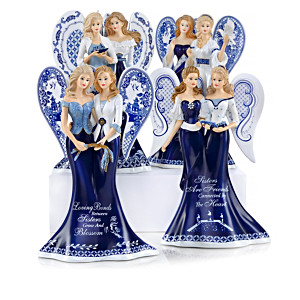 """Blue Willow Sisterly Love"" Angel Figurine Collection"