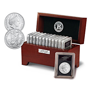 99.9% Silver Coins Of The World Collection With Case