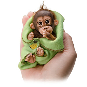 "Cindy Sales ""Cuddly Cuties"" Miniature Monkey Doll Collection"