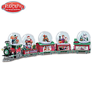 "Rudolph ""Holiday Express"" Musical Snowglobe Collection"