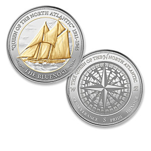 """The Bluenose"" Medallion Collection Includes A Display Box"