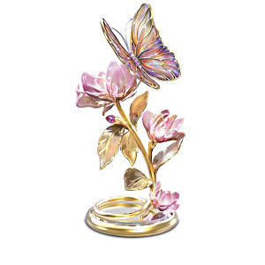 Shimmering Wings Illuminated Butterfly Sculpture Collection