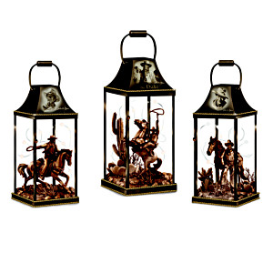 """John Wayne: Hollywood Luminary"" Lighted Lantern Collection"