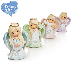 """Precious Moments """"Wings Of Remembrance"""" Angel Figurines"""