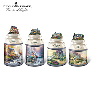 "Thomas Kinkade ""Home Sweet Home"" Canister Collection"