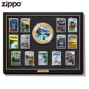"""""""Discover Canada"""" Zippo® Lighter Collection With Display"""