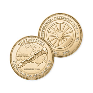 """""""The Last Spike"""" 24K Gold-Plated Medallion Collection"""
