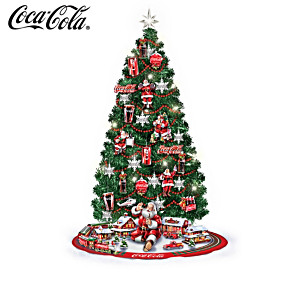 COCA-COLA Illuminated 91.4-cm Christmas Tree Collection
