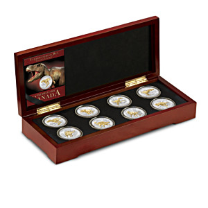 The Age of Dinosaurs Medallion Collection With Display Case