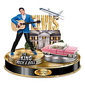 Life Of Elvis Light-Up Musical Tribute Sculpture Collection