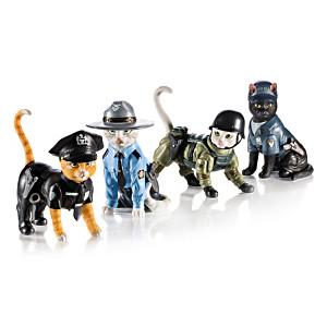 "Blake Jensen ""To Purr-tect & Serve"" Cat Figurine Collection"