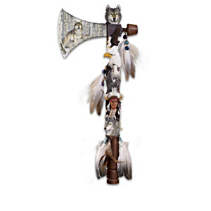 """Al Agnew Wolf Art """"Tomahawk Journey"""" Wall Decor Collection"""