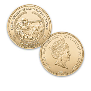 WWI Advanced Technology 24K-Gold Plated Proof Coin Collection