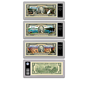 Genuine U.S. $2 Bills Honouring America's National Parks