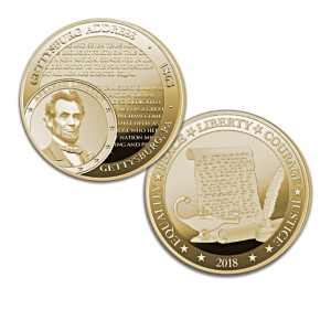 The World's Greatest Speeches Coin Collection With Display