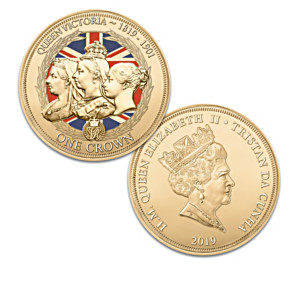 Queen Victoria 24K Gold-Plated Legal Tender Coins