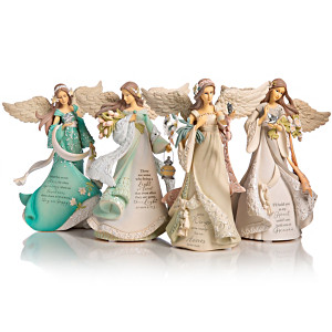 "Karen Hahn ""On Wings Of Love"" Angel Figurine Collection"
