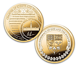 """Charter Of Rights And Freedoms"" 24K Gold-Plated Proof Coins"