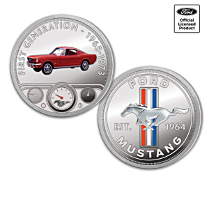 Ford Mustang Colourized Proof Coin Collection With Display
