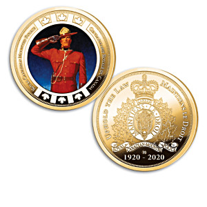 RCMP Gold-Plated Coins With Arnold Friberg Mountie Artwork