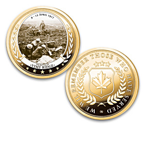 The Greatest Canadian Battles 24K Gold-Plated Proof Coins