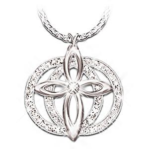 """""""Forever Love"""" Diamond Cross Pendant"""
