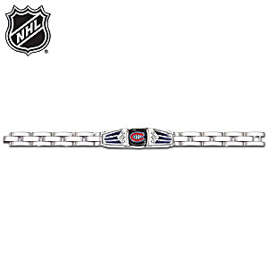 NHL® Montreal Canadiens® Bracelet With Black Onyx