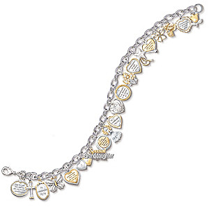 The Ultimate Granddaughter 20-Charm Bracelet