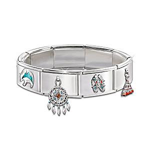 The Native American-Style Italian Charm Bracelet