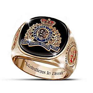 Royal Canadian Mounted Police Engraved Men's Ring