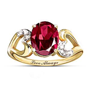 The 3-Carat Garnet And Diamond Promise Ring