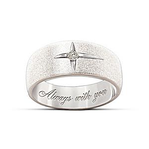 """""""Forever In Faith"""" Diamond Men And Women's Ring"""
