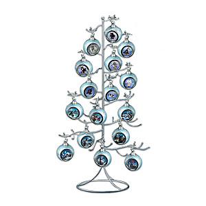 The Silvery Tree 37-Position Ornament Display Stand