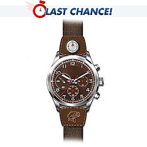 """Gone Fishing"" Engraved Sportsman's Watch"