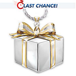 Friend's Gift Of Love Diamond Pendant Necklace