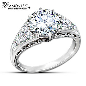 Diamonesk Replica Queen Elizabeth Royal Engagement Ring
