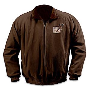 Ted Blaylock Eagle Art Reversible Fleece Jacket