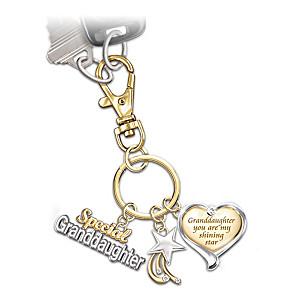 """My Granddaughter My Shining Star"" Key Chain"