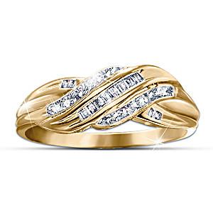 """""""Diamond Embrace"""" 21-Diamond And Yellow Gold Ring"""