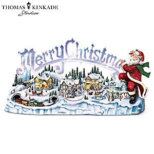 """Thomas Kinkade Santa's Inspiration"": Lights, Music, Motion"