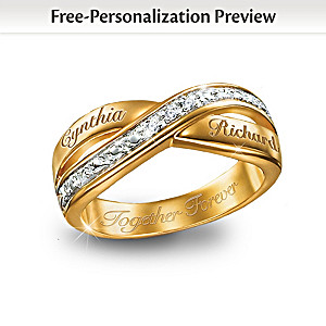 Eternity Double Band Personalized Diamond Ring