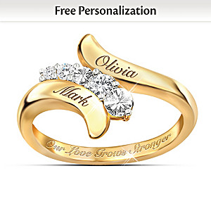 """""""Our Love Grows Stronger"""" Personalized Journey Ring"""